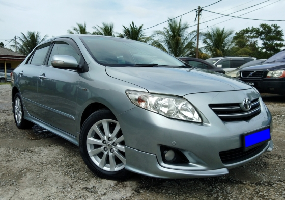 2009 TOYOTA ALTIS 1.8 (A) G FUII ORI BODYKIT 1 CAREFUL OWNER