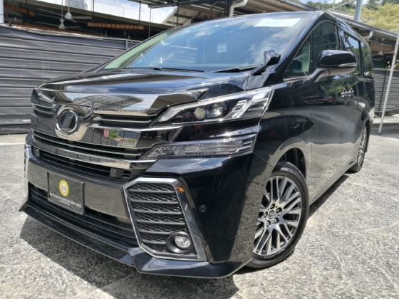2017 TOYOTA VELLFIRE TOYOTA VELLFIRE 2.5 ZG SUNROOF PRE CRASH LOCAL FM MONITOR UNREG 17