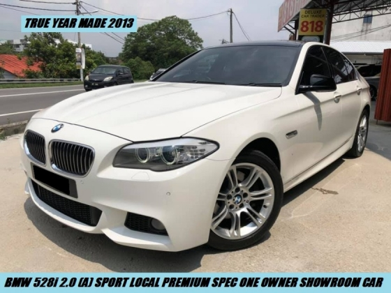 2013 BMW 5 SERIES  528I M-SPORTS LOCAL PREMIUM HIGH SPEC SHOWROOM CONDITION ONE OWNER LIKE NEW CAR