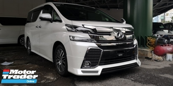 2015 TOYOTA VELLFIRE ZG 2.5CC  SUNROOF  READY STOCK NO NEED WAIT  TIPTOP CONDITION FROM JAPAN