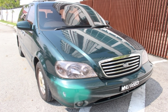2001 KIA CARNIVAL 2.5 PETROL LEATHER SEAT DVD PLAYER