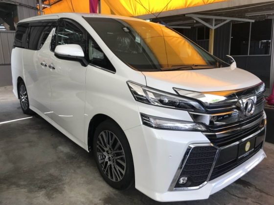 2017 TOYOTA VELLFIRE 2.5 ZG FULL SPEC ALPINE PLAYER 2017