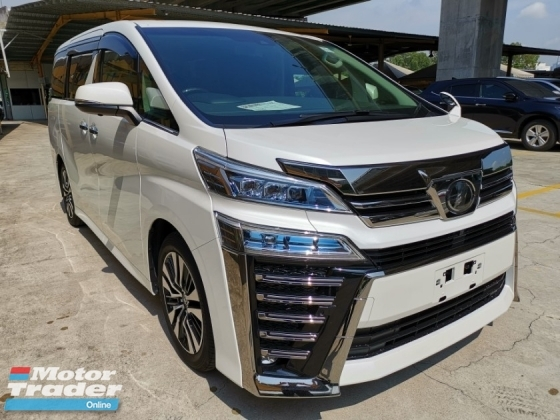 2018 TOYOTA VELLFIRE 2.5 ZG New Facelift Leather Unregister 1 YEAR WARRANTY
