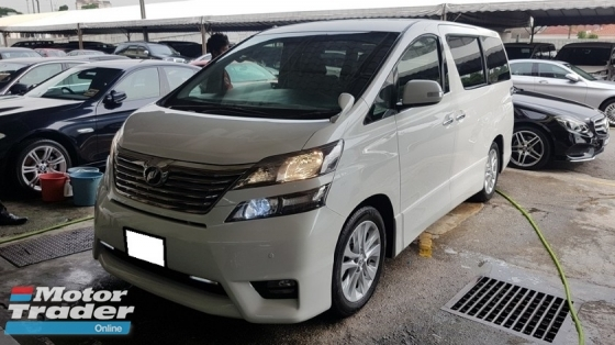 2010 TOYOTA VELLFIRE 2.4 VVTI (A) REG 2011, Z PLATINIUM MODEL, ONE OWNER, MILEAGE DONE 105K KM, 2 POWER DOOR, POWER BOOT, LEATHER SEAT, 18