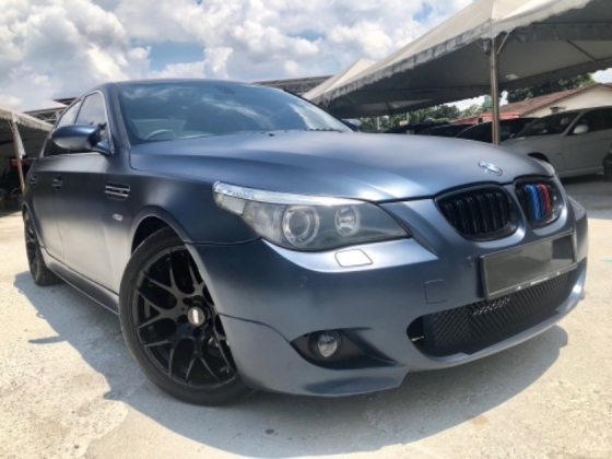 2007 BMW 5 SERIES E60 525i 2.5 (A) LIMITED SPORT VERSION LIMITED MATTE BLUE