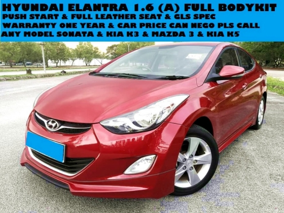 2012 HYUNDAI ELANTRA 1.6 FULL BODYKIT PUSH START FULL LEATHER SEATS