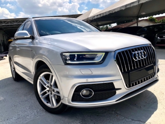 2014 AUDI Q3 2.0 S-LINE QUATTRO (A) LOCAL FULL SPEC FREE COATING 1 YEAR WARRANTY