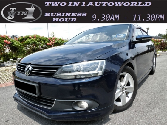 2012 VOLKSWAGEN JETTA 1.4 TSI LEATHER EDITION (A) FULL SERVICE VOLKSWAGEN / UNDER WARRANTY / 1 CAREFUL OWNER / TIPTOP CONDITIONS LIKE NEW