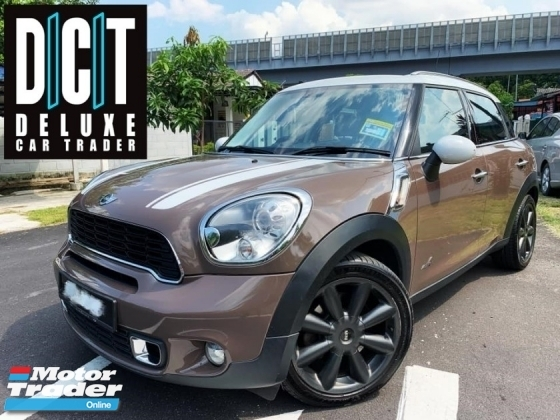 2013 MINI Countryman COOPER S 1.6 TURBO ALL4 1 LADY OWNER ORI PAINT TIPTOP CONDITION LOCAL FULL SPEC