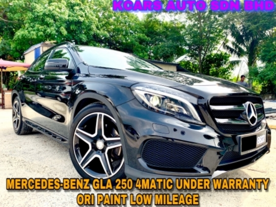 2017 MERCEDES-BENZ GLA 250 4MATIC ORI PAINT UNDER WARRANTY NICE NUM PLATE