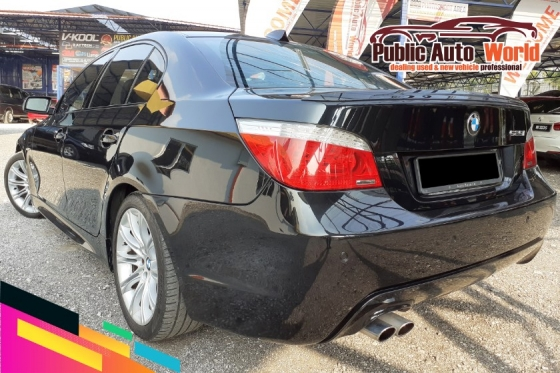 2009 BMW 5 SERIES BMW 525i E60 M SPORT 2.5 LCi F/LIFT(A)BLACKLeather
