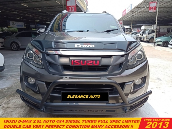 2013 ISUZU D-MAX 2.5 4x4 (A)DMAX POWERFULL TURBO FULL SPEC