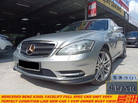 2011 MERCEDES-BENZ S-CLASS S300 L (CKD) 3.0 FACELIFT (A) FULL SPEC