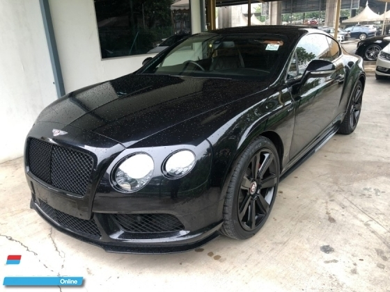 2015 BENTLEY CONTINENTAL GT Coupe V8 S 4.0 Twin Turbocharged 528hp Mulliner Package Smart Entry Push Start Button Bi Xenon LED Light Memory Air Cond Seat Multi Function Paddle Shift Steering Lift Suspension Breitling Analogue Reverse Camera Automatic Power Boot Unreg