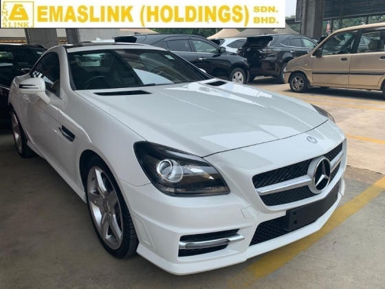2015 MERCEDES-BENZ SLK 200 AMG CONVERTIBLE OPEN ROOF NEW ARRIVAL UNREGISTER RARE WHITE COLOR PANORAMIC ROOF