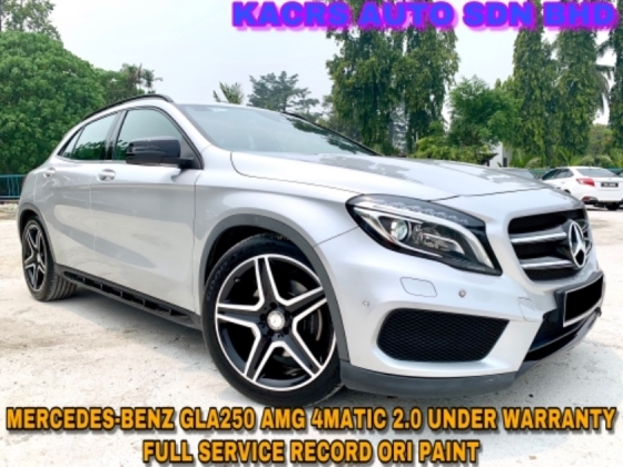 2017 MERCEDES-BENZ GLA 250 2.0 4MATIC AMG UNDER WARRANTY PADDLESHIFT