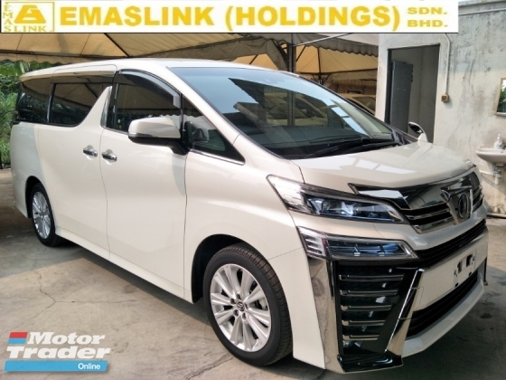 2018 TOYOTA VELLFIRE 2.5 ZA POWER BOOT 2 POWER DOOR 360 SURROUND CAMERA 7 SEATER 2 LED HEADLAMPS DAYTIME LED SYSTEM