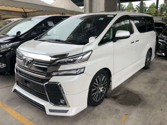 2016 TOYOTA VELLFIRE 2.5 ZG Modelista Alpine Player FULL SET 360 Surround Camera Sun Roof Moon Roof Memory Pilot Seat Automatic Power Boot 2 Power Doors Intelligent Bi-LED Smart Entry Push Start 3 Zone Climate Roller Blind Auto Lights Wiper 9 Air Bags Unreg