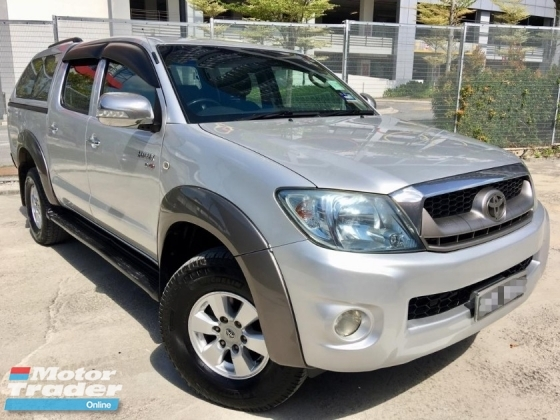 2011 TOYOTA HILUX DOUBLE CAB 2.5G (MT) 2 YEAR WARRANTY