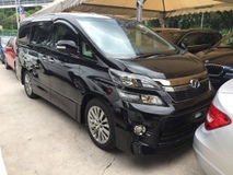 2013 TOYOTA VELLFIRE 2.4 Z Golden Eye Edition New Facelift Automatic Power Boot 2 Power Doors 7 Seat HalfLeather Xenon Light Keyless Go Smart Entry Push Start Button Front Reverse Camera 9 Air Bags Dual Zone Climate Control 1 Year Warranty Unreg