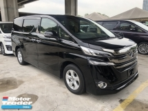 2016 TOYOTA VELLFIRE 2.5 Dual VVT-i 7 SCVT-i 4 Surround Camera Automatic Power Boot 2 Power Door Intelligent Bi LED Smart Entry Push Start 3 Zone Climate Control  9 Air Bag Unreg