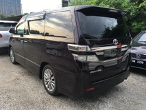 2013 TOYOTA VELLFIRE 2.4 Golden Eye Edition Automatic Power Boot 7 Seat Half Leather Xenon Body Kit