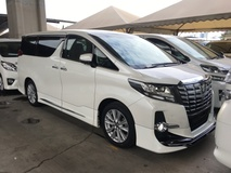 2015 TOYOTA ALPHARD 2.5 Sport Modelista Edition New Model 7 Speed Super CVTi 4 Surround Camera 2 Power Doors 7 Seat Smart Entry Push Start Multi Function Steering Drive Hold Function Adaptive Intelligent Bi LED 3 Zone Climate Control Auto Cruise Control ECO Drive 9 Air Bag