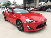 2013 TOYOTA FT-86 GT 86 2.0 NA Boxer D4S 200hp 6 Speed LSD VSC Sport Mode Smart Entry Push Start Button Alcantara HVAC Bucket Seat High Intensity Discharge LED Light System Zone Climate Control Paddle Shift Steering Aluminium Pedals Twin Exhaust DVD Player Reverse Camera