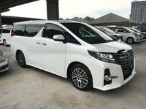 2015 TOYOTA ALPHARD 2.5 SC Edition 4 Surround Camera Adaptive Daytime Running Bi LED Light Memory Power Half Leather Pilot Seat Automatic Power Boot Power Door 3 Zone Climate Auto Cruise Body Kit 9 Air Bags 1 Year Warranty