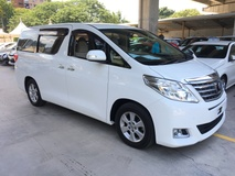 2014 TOYOTA ALPHARD 2.4 VVTi 7Speed SuperCVT New Facelift 2 Automatic Power Doors Xenon Light Keyless Go Entry Push Start Retractable Side Mirror DVD Player Front  Reverse Camera Zone Climate Control 9 Air Bag 1 Year Warranty Unreg