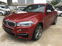 2015 BMW X6 M Performance M50d 3.0 Turbocharged 376hp F16 Adaptive Bi LED Head Up Display Smart Entry Power Boot Memory Bucket Seat Multi Function Paddle Shift M Steering Sport  Comfort Eco  Drive PreCrash Intelligent Safety Bluetooth Connectivity