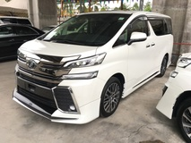 2016 TOYOTA VELLFIRE 2.5 ZG Modelista Fully Loaded Edition 4 Surround Camera JBL Home Theater Surround System Pilot Memory Seat Moon Sun Roof Auto Power Boot Doors Bi LED Light Pre Crash Bluetooth Connectivity Unreg