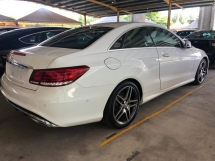2014 MERCEDES-BENZ E-CLASS E200 2.0 CGi AMG Sport Edition 7G Tronic Coupe Turbocharged Bucket Seat Multi Function Paddle Shift Steering Engine Start Stop Dual Zone Climate Control Auto Cruise Control LED Light Bluetooth Connectivity Unreg