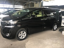 2015 TOYOTA VELLFIRE 2.5 Dual VVTi 7 Speed Super CVTi Adaptive Intelligent Bi LED Light 4 Surround Camera Keyless Smart Entry Push Start Button 2 Power Door Multi Function Steering Engine StartStop Bluetooth Connectivity Drive Hold 3 Zone Climate Eco Pro 9 Air Bags 1