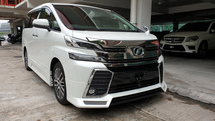 2016 TOYOTA VELLFIRE 2.5 Model ZG AMIRATION BODYKIT