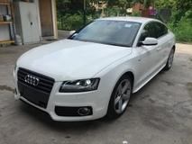 2011 AUDI A5 2.0 TFSi SLine Quattro Sport Back Push Start Button Keyless Entry MMi 2 Power Leather Seat Paddle Shift Multi Function Steering Xenon Daytime LED Retractable Side Mirror Bluetooth Connectivity 1 Year Warranty Unreg