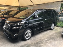2012 TOYOTA VELLFIRE 2.4 Z Edition Sport Package New Facelift 2 Power Door 7 Seat Body Kit Surround Park Sensor Front Reverse Camera Keyless Go Smart Entry Push Start Xenon Light 7Speed 9 Air Bags Dual Zone Climate Control Auto Cruise Control 1 Year Warranty Unreg