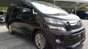 2015 TOYOTA VELLFIRE 2.4 GOLDEN EYE SUNROOF PURPLE UNREG