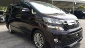 2013 TOYOTA VELLFIRE 2.4 GOLDEN EYE SUNROOF PURPLE UNREG