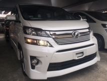 2012 TOYOTA VELLFIRE 2.4Z PLATINUM SELECTION II TYPE GOLD