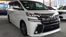 2015 TOYOTA VELLFIRE ZG 2.5L JAPAN VERSION (UNREG) PILOT SEAT FULL SPEC