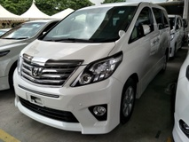 2013 TOYOTA ALPHARD 2.4 SPORT EDITION 8 SEATER 2 POWER DOOR