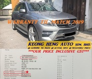 2014 MERCEDES-BENZ ML-CLASS W166 3.5 4MATIC V6 SUV (ACTUAL YR MADE 2014)(GST INCLU)(REG 2015)(WARRANTY TIL 2O19)(CBU IMPORT BARU)(LIKE NEW)(KL CHERAS AREA)(NO CHEATING)