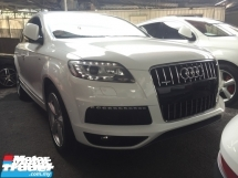 2013 AUDI Q7 3.0 TDI S LINE.PRICE 0 SST.FACELIFT 13 UNREGIST.8 SPEED.245HP.REVERSE CAMERA.PADDLE SHIFT.LED