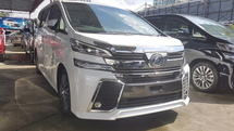 2016 TOYOTA VELLFIRE ZG 2.5L JAPAN VERSION (UNREG) PILOT SEAT FULL SPEC