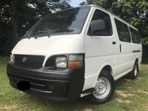 2005 TOYOTA HIACE 2.7 MANUAL 12 SEATS ONE OWNER DIESEL ENGINE NEW TYRE ORIGINAL PAINT ORIGINAL CONDITION NO REPAIR NEEDD