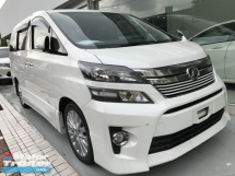 2014 TOYOTA VELLFIRE 2.4 GOLDEN EYE 2 UNREG MONSTER WHITE