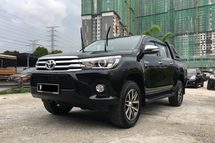 2017 TOYOTA HILUX 2.8 G SPEC (A) FULL SERVICE RECORD . WARRANTY STILL AVAILABLE . LEATHER SEAT . GPS . PUSH START .