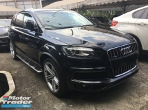 2013 AUDI Q7 Unreg Audi Q7 turbo diesel 3000cc power boot camera S LINE Model