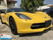 2014 CHEVROLET CORVETTE 6.2 Z5 UNREG MONSTER YELLOW CONVERTIBLE COUPE JPN